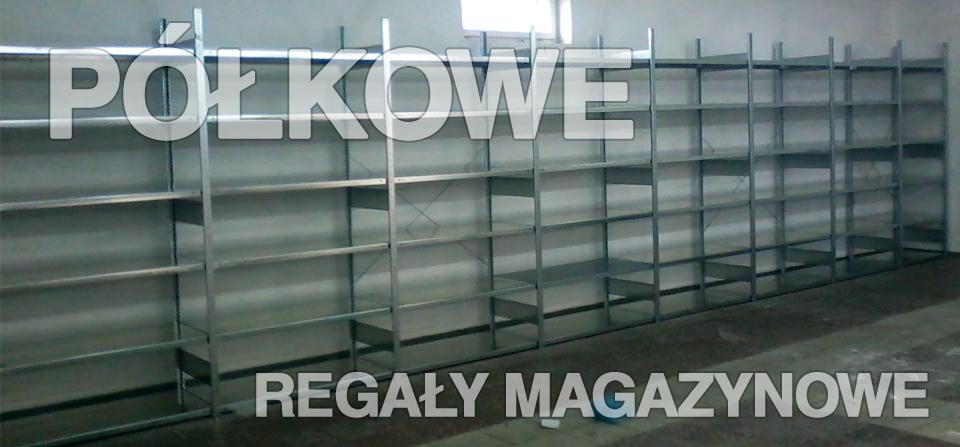 Półkowe regały magazynowe